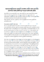 Sofie Lindes zulu tale 2020   Analyse   Dansk