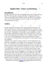 Spøgelsesbilist   Analyse   Charlotte Weitze   10 i Karakter