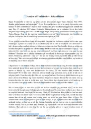Trælameller | Analyse | Yahya Hassan | 10 i Karakter