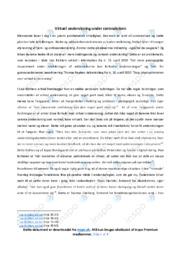 Virtuel undervisning under coronakrisen | Analyse