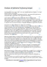 Reklame | Analyse | Georg Jensen | 12 i Karakter