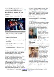Dramaserie Riverdale på Netflix   Analyse