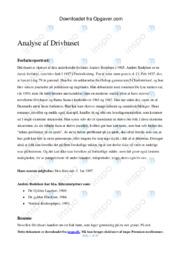 Drivhuset af Anders Bodelsen   Analyse   Dansk