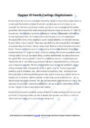 Eksplosionen   Analyse   Henrik Cavling   10 i Karakter