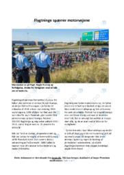 Flygtninge spærrer motorvejene   Debatindlæg