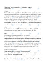 H.C Andersens Klokken | Analysering og fortolkning