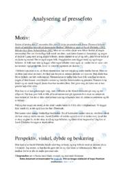 Begravelse | Analyse | Pressefoto | 12 i Karakter