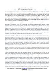 Vintermedister   Analyse   Thomas Korsgaard   12 i Karakter