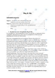 Bog og Ide   Analyse   10 i karakter