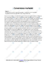 Convenience markedet | Analyse | 10 i karakter