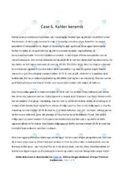 Kahler keramik | Analyse | 10 i karakter