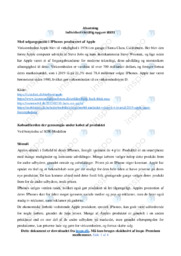 Apple | Analyse | 12 i karakter