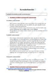 Kernestofområde | Noter Afsætning