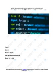 Digitale erhvervs artifakter | Analyse | Erhvervsinformatik