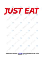 Just Eat   Erhvervsøkonomi   12 i Karakter