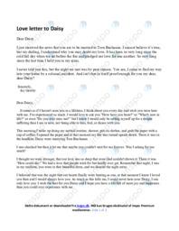 Love letter to Daisy | Opgave | 10 i karakter