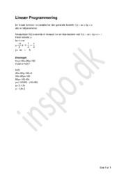 Lineær Programmering   Matematik