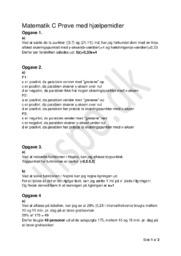 Matematik C Prøve med hjælpemidler