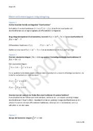 Integralregning Emneopgave – Matematik