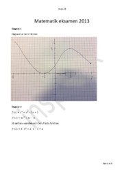Matematik HHX Eksamen 2013