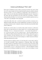 """Analyse og fortolkning af """"Ond i sulet"""""""