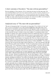 """A short summary of the article """"The man with ten personalities"""""""