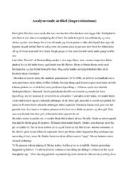 Pernille   Analyserende artikel (impressionisme)