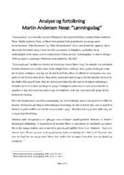 Lønningsdag   Analyse og fortolkning   Martin Andersen Nexø