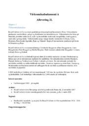 Virksomhedsøkonomi  | Makita, Jensen & Hansen & Unibrew
