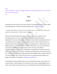 """Fortolkningshypotese af værket """"Tine"""" af Herman Bang –  Kapitel 6"""