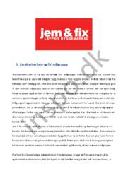 Jem og fix – Karakteriser & analyser