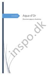 Aqua d'Or Eksamensopgave afsætning – April 2018