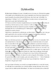 Dybfrostfilm analyse | Dan Turèll