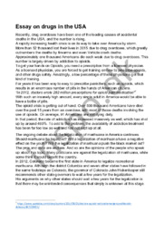 Essay on drugs in the USA