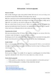 Bilka – B2B Markedet Forretningsmøde – Forbered Salgsmøde