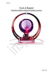 Forholdet mellem elektronens ladning og masse | Fysik Rapport