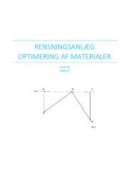 Rensningsanlæg Optimering af Materialer – Matematik Rapport