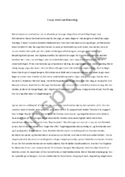 Essay med værklæsning | Dansk