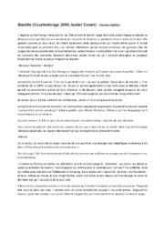 Bastille (Courtmètrage 2006, Isabel Coixet) – transcription