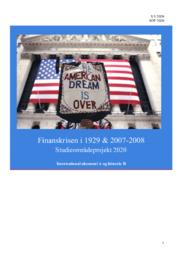 Finanskrisen i 1929 & 2007-2008 | SOP