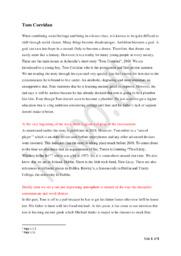 Tom Corridan by Arhondia   Short Story
