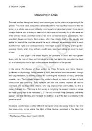 Eksamenssæt STX 18. august 2016 – 2A: Masculinity in Crisis I Paper – Delprøve opgave engelsk