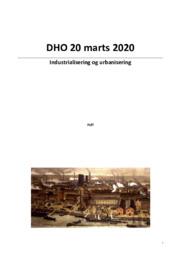 DHO 20 marts 2020 | Industrialisering og urbanisering
