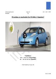 Hvordan er markedet for El-biler i Spanien? | Mini-SOP Rapport