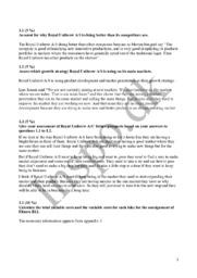 Erhvervsøkonomi | Royal Unibrew, Fitness B12 og Motion import