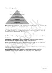 Noter: Maslows behovspyramide, AIDA modellen & Gallups kompas