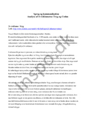 Reklame analyse af Tryg og Codan