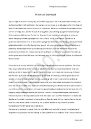 """Analyse af """"Grantræet"""" af H.C. Andersen"""