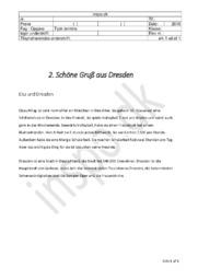 Schöne Gruß aus Dresden | Tysk Terminsprøve