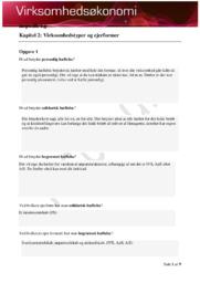 Opgaver til VØ kapitler: Kapitel 2-6